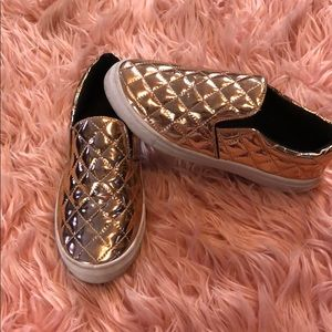 Shoes - Size 6 Rose Gold slip ons